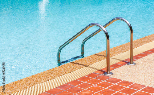 poster of Ladder of swimming pool in summer time