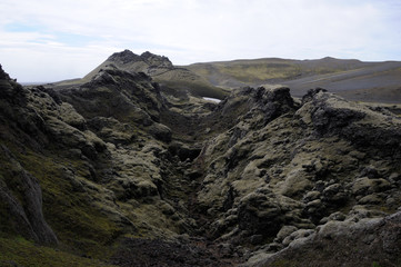 cratère volcan Laki