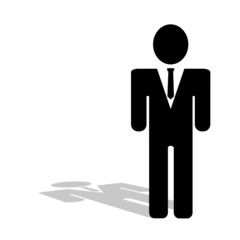 business people icon vector silhouette