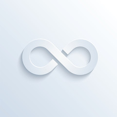 Infinity sign with shadow