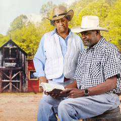 Bible Reading Cowboy Couple