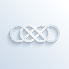 Double infinity sign with shadow