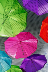 Multicolor Umbrellas Dark sky