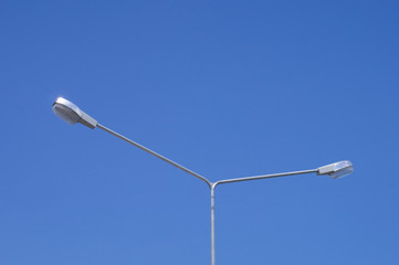 Electricity Pole with Lamp