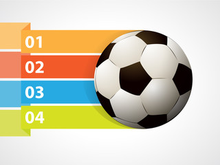 Soccer ball with graphic informations - Vector illustration