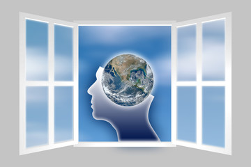 Global vision - concept image