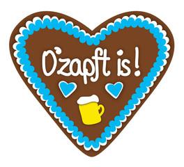"Lebkuchenherz ""O'zapft is!"""