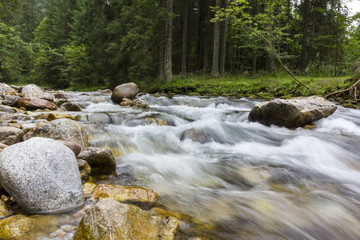 Long Exposure Photo Of A Mountain river