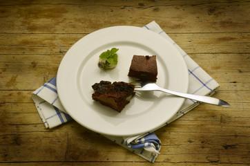 Pastel de chocolate con peras Torta di cioccolato alle pere