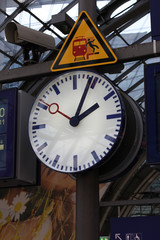 Public clock In a railway station