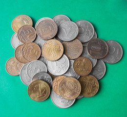 Russian rubles and kopecks