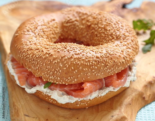 Deurstickers Assortiment bagel and lox