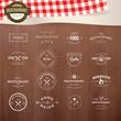 Zdjęcia na płótnie, fototapety, obrazy : Set of vintage  elements for labels and badges for restaurants