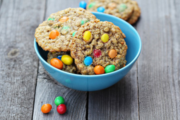 Cookies with colorful candies