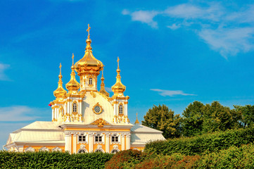 east chapel in Peterghof, St Petersburg, Russia