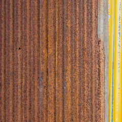 old corrugated iron background and texture