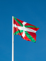 ikurrina. Basque Country flag. Spain.