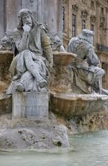 Walther von der Vogelweide am Frankoniabrunnen in Würzburg