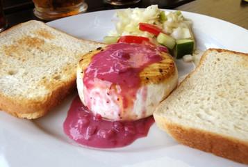 Camembert cheese plate