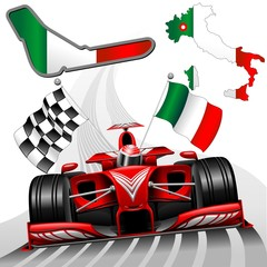 Formula 1 Red Race Car GP Monza Italy