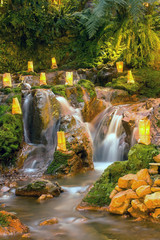 nature with a waterfall that looks rilex, comfortable and refres