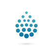 Water drop logo icon design template elements