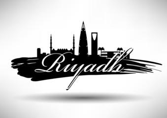 City of Riyadh Typographic Skyline Design