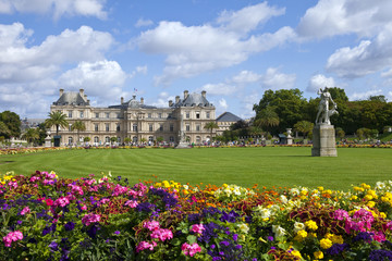 Luxembourg Palace in Jardin du Luxembourg in Paris