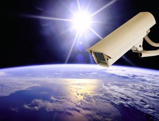 CCTV Exploring earth with sun light, Globe image from Nasa.gov
