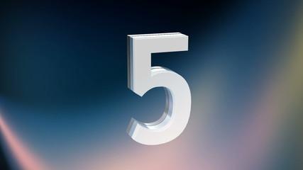 3D Digital Countdown 10 Second