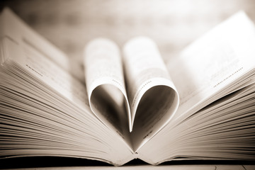 heart book shaped