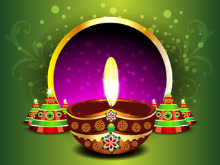 Green Diwali Background