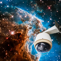 CCTV with star light background, image from Nasa.gov