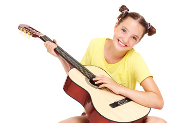 Teenager and guitar