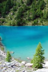 Lago Blu e morena del Ghiacciaio di Verra - Monte Rosa