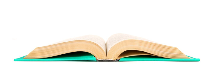 The open book. On white background.