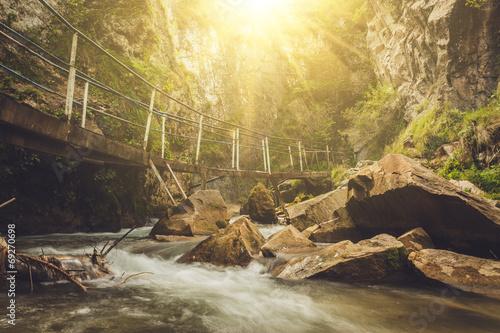 Foto op Aluminium Scandinavië mountain river