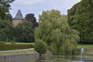 Le bout le l'étang du Moulin au domaine d'Enghien