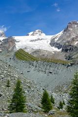 Morena del ghiacciaio di Verra - Massiccio del Monte Rosa