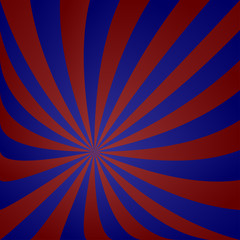 Red blue striped vortex design
