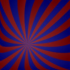 Red blue striped vortex design