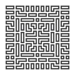 Geometric element, maze