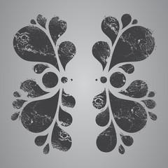 Floral element, grunge design