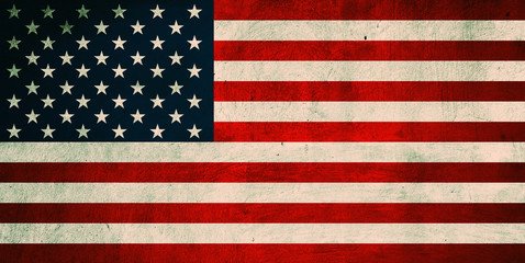 Grunge USA Flag. Background of national flag of United States of
