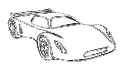 Sports car sketch