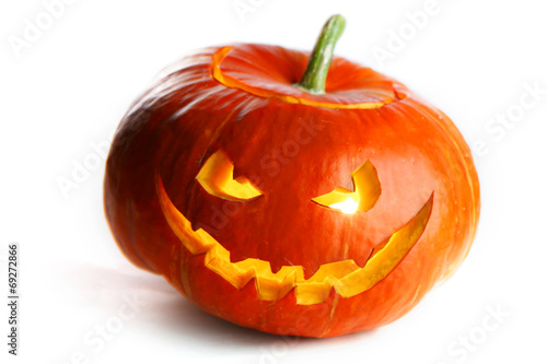 canvas print picture Scary Halloween Pumpkin