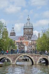 Saint Nicholas church in Amsterdam, Netherlands