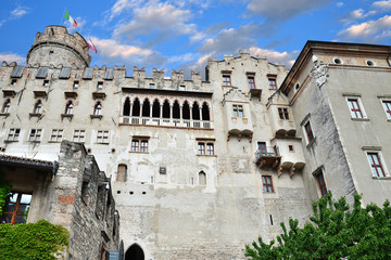 castello Buonconsiglio Trento Italia fronte parziale