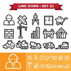 Line icons set 23