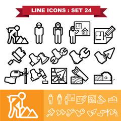 Line icons set 24